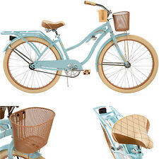 Women's Cruiser Bike 26 Inch Beach Bicycle Cycling Basket Comfortable Huffy Blue