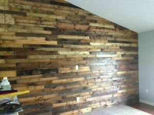 RECLAIMED PALLET BOARDS WOOD PLANKS TIMBER WALL CLADDING PROJECT FAST & FREE