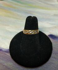 Vintage 14k Yellow Gold 10 Diamond wide Ring Size 6, 2.2 grams
