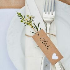 Ginger Ray Kraft Heart Luggage Tags, Rustic Country Wedding - pack of 8