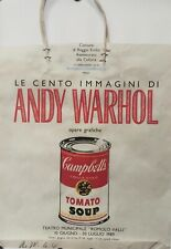 ORIGINAL VINTAGE POP ART POSTER ANDY WARHOL TEATRO MUNICIPALE SOUP CAN ON BAG