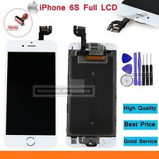 """For iPhone 6S 4.7"""" Full LCD Digitizer Touch Screen & Home Button & Camera White"""