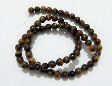 1filo/65pz perline in pietra occhi di tigre naturale 6mm bijoux