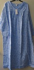 Charter Club 3X Blue Warm Plus Size Cotton Flannel Warm Nightgown Long Length