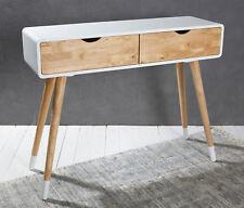 Konsolentisch Holz weiß Natur Konsole Schminktisch anrichte modern Tisch Design