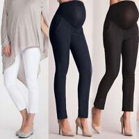 Women's Maternity Pregnant High Waist Comfortable Trousers Leggings Bump Pants