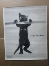 Vintage Black and white Poster Hang In There, Baby 1972   Inv#G2610
