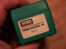 RCBS CASE TRIM GAUGE NO. 6 PART # 98956