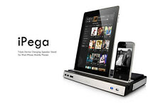 IPEGA Multi Function Charger Docking Station & Stereo Speaker 4 iPad iPhone iPod