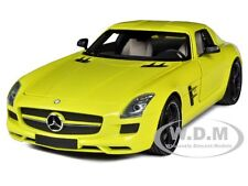 2010 MERCEDES SLS AMG YELLOW WITH BLACK WHEELS 1/18 BY MINICHAMPS 100039022