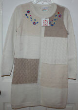 NWT Girls Hanna Andersson White Sweater Dress Size 140 ~ US 9-11