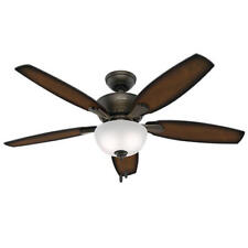 "52"" New Bronze 2 LED Indoor Ceiling Fan with Light Kit"