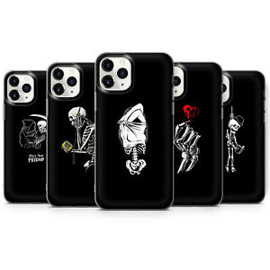 Aesthetic skull Skeleton bone RIP lovers death phone Cases covers fit iPhone 13
