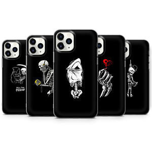 Aesthetic skull Skeleton bone RIP lovers death phone Cases covers fit iPhone 12