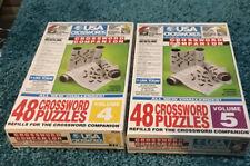 USA Today Crossword Puzzle Companion Refill 48 Puzzle Vol. 4 & 5 Crossword NEW