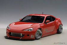 TOYOTA 86 ROCKET BUNNY RED WITH GOLD WHEELS BY 1:18 AUTOart 78757 New In Box