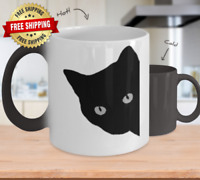 Color Changing Mugs Cat Silhouette Black Cat 11oz Coffee Mug Gift