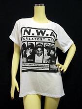 N.W.A. T-shirt, Gangsta RAP Dr DRE Ice Cube Eazy-E White UNISEX Cotton S M L NWA