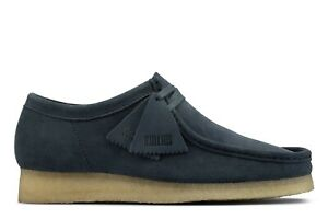 NEW MENS CLARKS ORIGINALS WALLABEE LIMITED EDITION BLUE NAVY SUEDE LOW SHOES