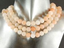 3x Calcit Kette ohne Verschluss, 10 mm, Orange-Töne, Länge 38,5 cm /1465g
