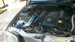 BCP BLUE 98-00 Mercedes Benz C220 C230 C280 Short Ram Racing Intake + Filter