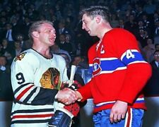 1970 - 71 Stanley Cup Hawks Bobby Hull Canadiens Jean Beliveau 8 X 10 Photo