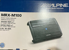 Alpine Mrx-M100 1000w Rms Class D Mono Amp