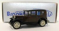 Brooklin Models 1/43 Scale BRK5 003B - 1930 Ford Model A Tudor - Dk Brown Black