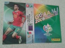 FIFA 2006 World Cup Portugal HELDER POSTIGA Panini Trading Card
