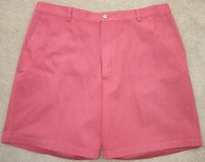 New! Greg Norman Classic Golf Shorts Dark Salmon Size 40 Flat Front