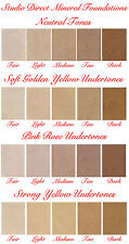 PRO LOOSE MINERAL MAKEUP FOUNDATION FULL OR SHEER COVER PURE NATURAL SAMPLE USA