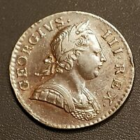 1771 Great Britain George III 1/2 Penny KM-601 Coin!  FREE SHIPPING!