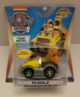 Paw Patrol True Metal Rubble Die-Cast Car, Mighty Pups Super Paws SEALED NEW