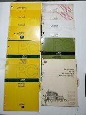 Lot Of 12 John Deere Operators Manual Parts Plows Blades Heads Cultivators 26