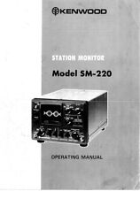 Kenwood SM-220 Station Monitor Owners Instruction Manual