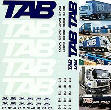 Tab Rail Road Transport for Trucks + Container 1:87 Truck Decal