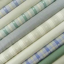 Swedish Farmhouse Fabric Scrap Pack / vintage check gingham stripe heart linen