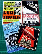 Led Zeppelin, Set of 4 Large Tour / Concert Stickers, Glossy Vinyl