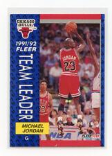 1991-1992 Fleer Michael Jordan Chicago Bulls #375 Basketball Team Leader