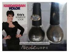 KARDASHIAN* 2pc Kolor OPI Nicole KRIS KOMPLETE PACKAGE Nail Polish TEXTURE 1c