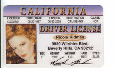 Nicole Kidman novelty collectors card Drivers License