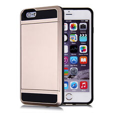 3 In 1 shockproof Card Wallet Hard Back Phone Case Cover For iPhone 5S 6 7 Plus