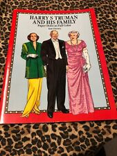 Paper Dolls Tom Tierney Uncut Harry S Truman and His Family 1991