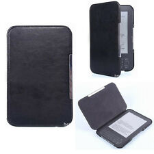 Black Slim Leather Protector Pouch Skin Case Cover For Amazon Kindle Keyboard TR
