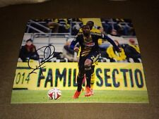 PHILADELPHIA UNION MLS SOCCER MAURICE EDU SIGNED AUTOGRAPHED 8X10 PHOTO COA