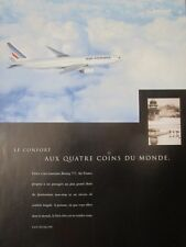 4/1998 PUB BOEING AIR FRANCE AIRLINE BOEING 777 AIRLINER ORIGINAL FRENCH AD