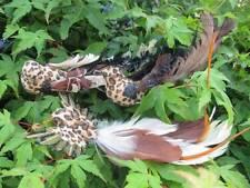 Gli uccelli artificiali-Set di 3 Safari Stile artificiale uccelli-stampa leopardata Design