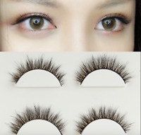107# 3Pairs 3D Makeup Handmade Natural Thick Long Eye Lashes False Eyelashes