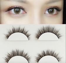 107# 3Pairs 3D Makeup Handmade Natural Thick Long Eye Lashes False Eyelashes