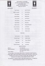 FA Cup Teams L-N Under 18s/ 21s Football Programmes